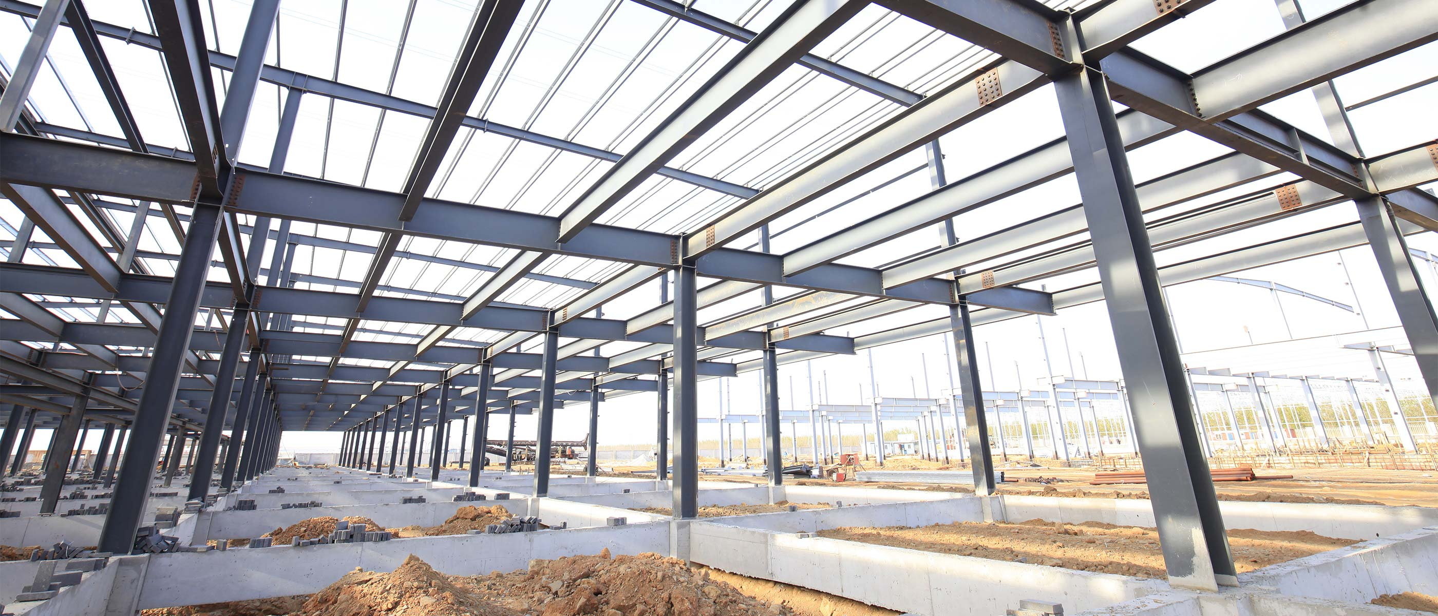 Steel Framing of building