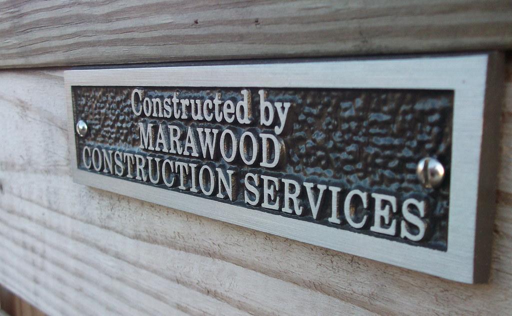 Marawood plaque